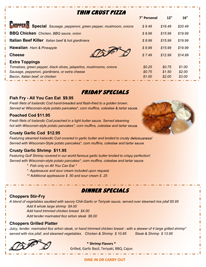Check out our new menu for Choppers Bar and Grill.